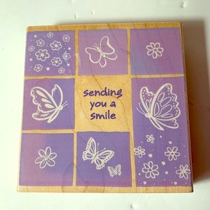 Sending you a Smile Large Butterfly Stamp